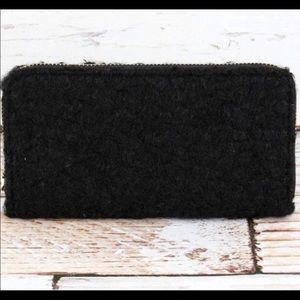 SHERPA Black Oversized Accordion Wallet!